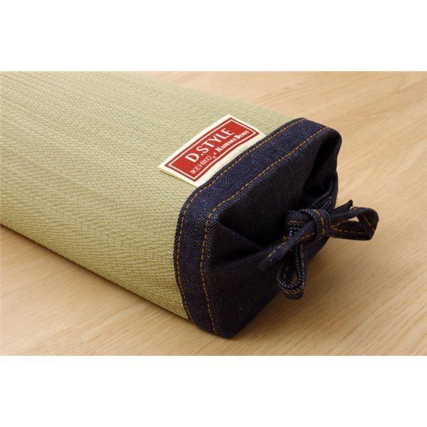 枕 まくら い草枕 消臭 ピロー 国産 デニム 高さ調整 『マイル 角枕 』 約30×15cm 中材:ポリエチレンパイプ佐川急便で発送します|s-waza|05