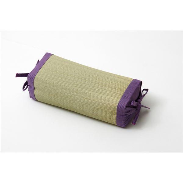枕 まくら い草枕 消臭 ピロー 国産 無地 高さ調整 『スリム 角枕』 パープル 約30×15cm佐川急便で発送します|s-waza|05