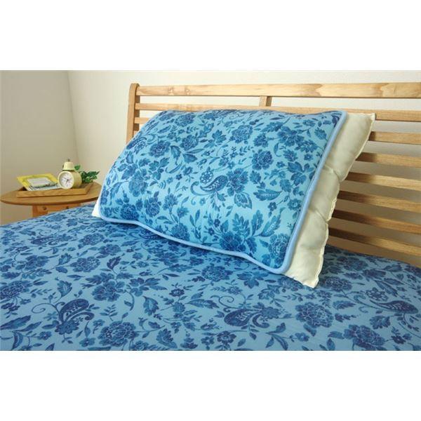 冷感 枕パッド/寝具 〔プリント 約40cm×50cm〕 洗える 低反発 接触冷感 『ツインクール 枕パッド』 〔寝室〕佐川急便で発送します|s-waza