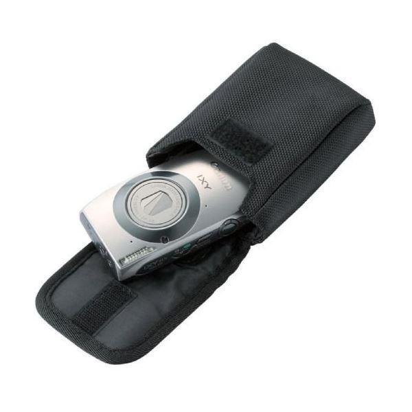 (まとめ)エレコム 首ひも付デジタルカメラケース面ファスナータイプ Mサイズ ブラック DGB-056BK 1個〔×5セット〕佐川急便で発送します