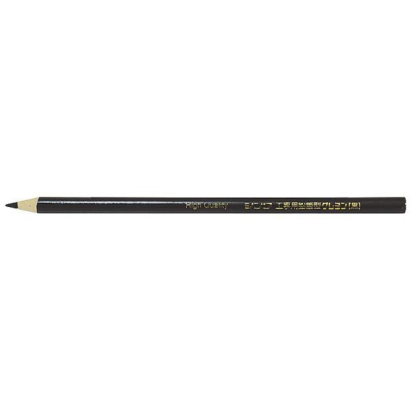 シンワ測定 工事用鉛筆型クレヨン 黒 3本入  78435