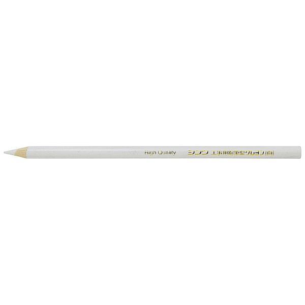 シンワ測定 工事用鉛筆型クレヨン 白 3本入  78443