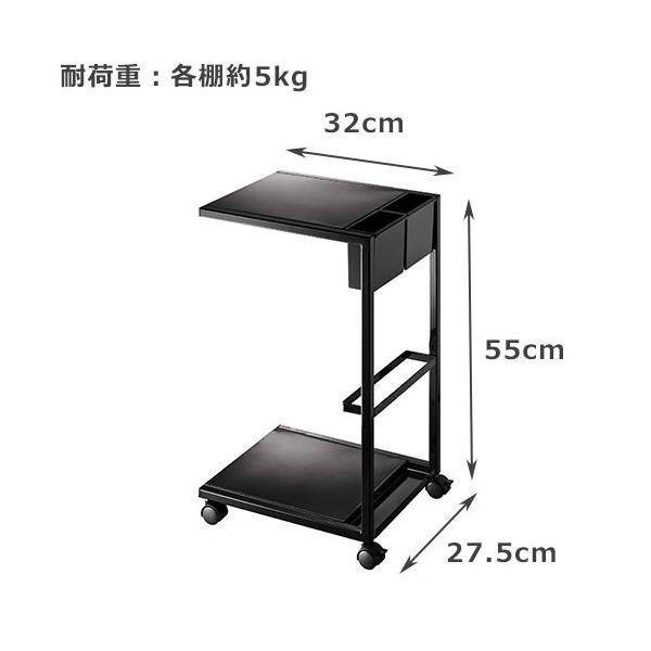 サイドテーブル キャスター付き タワー ワゴン|s-zakka-show|03
