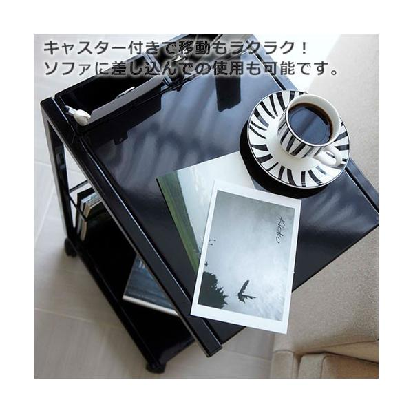 サイドテーブル キャスター付き タワー ワゴン|s-zakka-show|06
