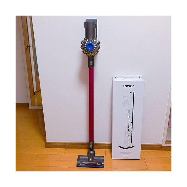 クリーナースタンド 掃除機スタンド ダイソン 収納 充電可能 スリム スタンド ラック dyson v6 v7 v8 v10 スティック型 山崎実業 tower|s-zakka-show|12