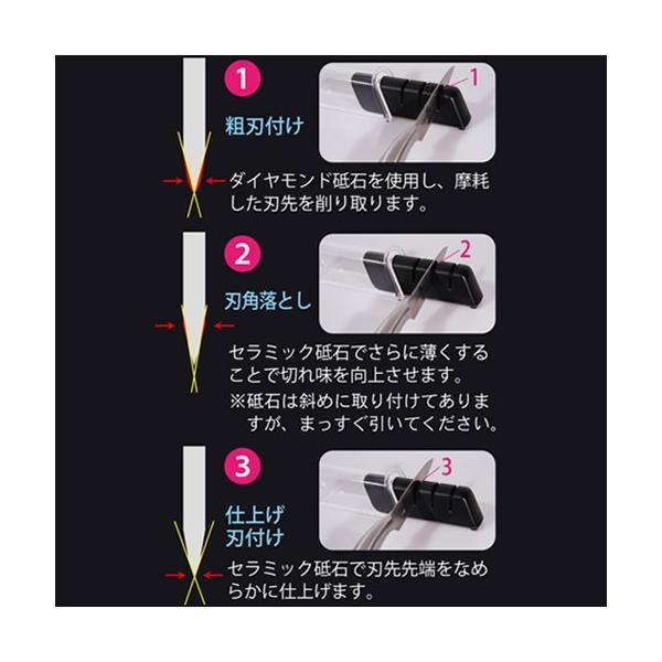 包丁研ぎ器 関孫六 ダイヤモンド&セラミックシャープナー|s-zakka-show|02