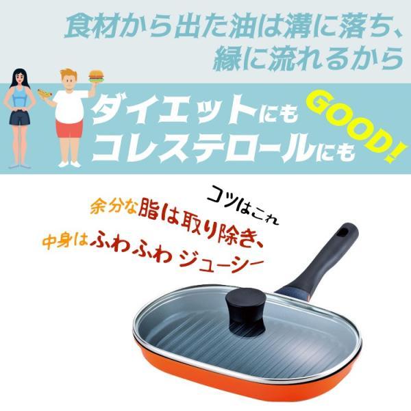 魚焼き器 フライパン 切身魚にちょうど良い魚焼きパン IH200V対応 s-zakka-show 03