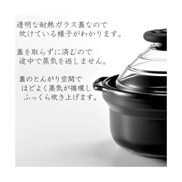 HARIO ハリオ フタがガラスのご飯釜N3合用|s-zakka-show|02
