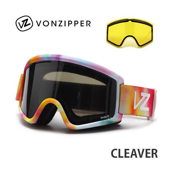21 ボンジッパー VONZIPPER CLEAVER スノーボード スノボー ゴーグル フレーム:LITTLE FLUFFY CLOUDS レンズ:WILDLIFE SILVER CHROME