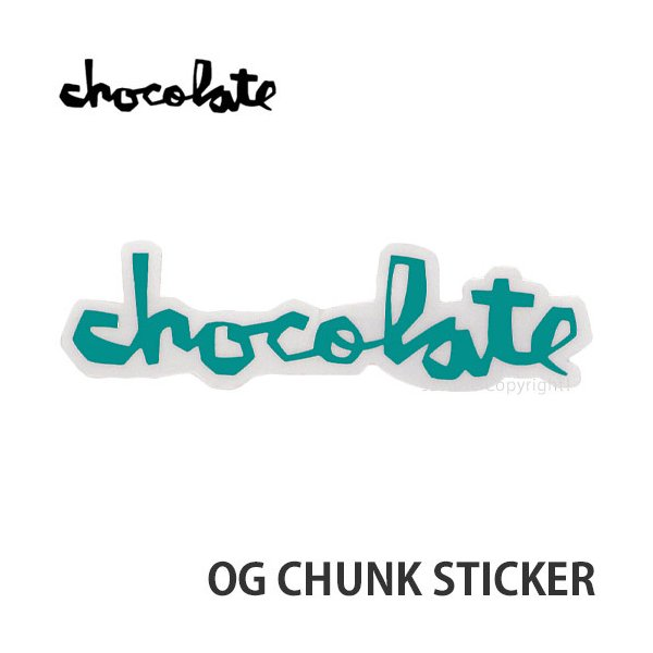 """チョコレート オージー チャンク ステッカー CHOCOLATE OG CHUNK STICKER スケートボード スケボー シール カラー:EMERALD サイズ:5"""""""