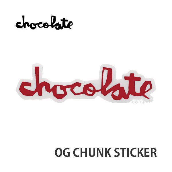 """チョコレート オージー チャンク ステッカー CHOCOLATE OG CHUNK STICKER スケートボード スケボー シール カラー:RED サイズ:5"""""""