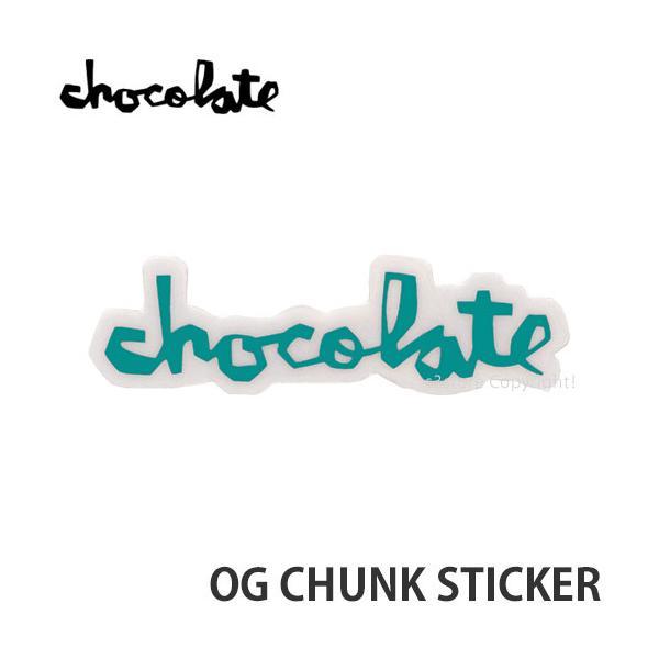"""チョコレート オージー チャンク ステッカー CHOCOLATE OG CHUNK STICKER スケートボード スケボー シール カラー:EMERALD サイズ:3"""""""