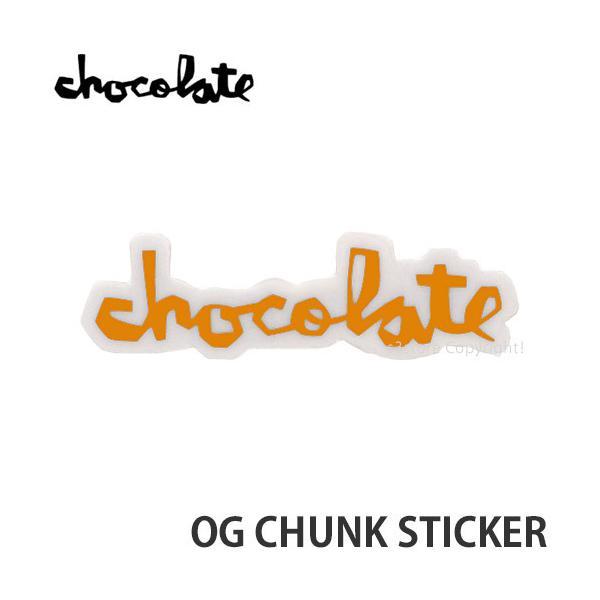 """チョコレート オージー チャンク ステッカー CHOCOLATE OG CHUNK STICKER スケートボード スケボー シール カラー:LIGHT ORG サイズ:3"""""""