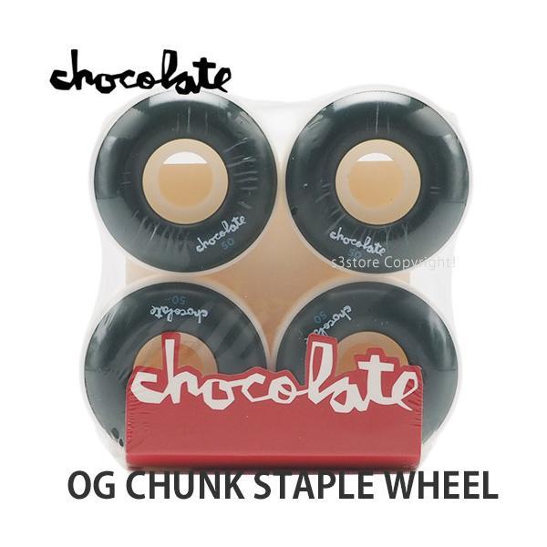 チョコレート チャンク ステープル ウィール CHOCOLATE OG CHUNK STAPLE WHEEL スケートボード スケボー カラー:GRN サイズ:50mm/99du