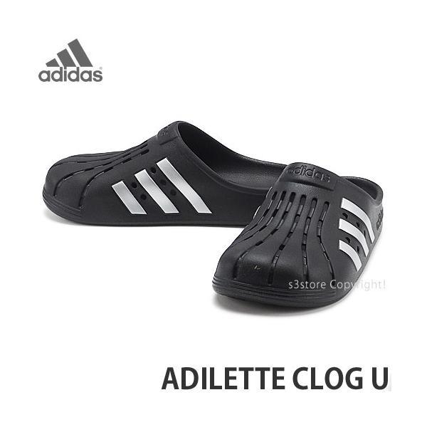 アディダスアディレッタクロッグadidasOriginalsADILETTECLOGUシューズサンダル靴カラー:コアブラック/シ