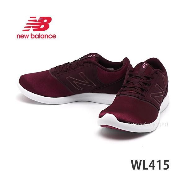 ニューバランスNEWBALANCEWL415スニーカーレディースシューズ靴ウォーキング散歩WOMENSカラー:BURGUNDY