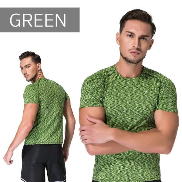 ランニングウェア メンズ 半袖 Tシャツ 秋冬 吸水 速乾 ヨガやジムなど お しゃれなシンプルデザイン|s4r|06