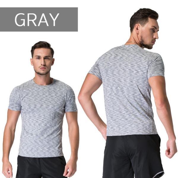 ランニングウェア メンズ 半袖 Tシャツ 秋冬 吸水 速乾 ヨガやジムなど お しゃれなシンプルデザイン|s4r|08