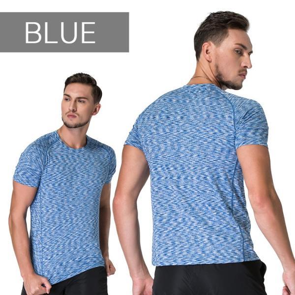 ランニングウェア メンズ 半袖 Tシャツ 秋冬 吸水 速乾 ヨガやジムなど お しゃれなシンプルデザイン|s4r|09