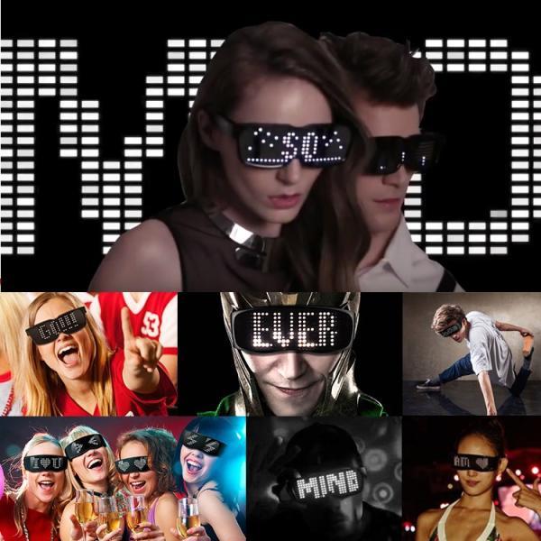 Chemion ケミオン LED スマートグラス SmartGlasses Bluetooth  LEDサングラス ウェアラブルデバイス EDM パリピ クラブ パーティー ガジェット|sabb|06