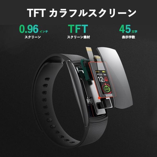 スマートウォッチ iWOWNfit i6 Pro-c 正規代理店 日本語対応 カラー 2018 フィットネス スマートブレスレット iPhone Android 自動測定 IP67 防水防塵 sabb 10