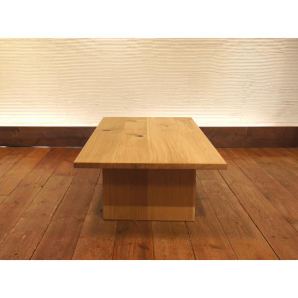 Low Table Torii 幅120cm ローテーブル 収納棚付き ナラ無垢材|sabisabi-web|02