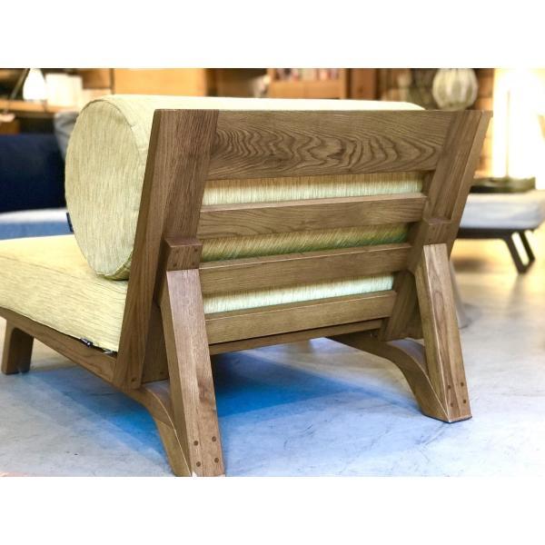 BM Sofa 1人掛けソファ 選べる背もたれフラットタイプ ローソファー ナラ無垢材|sabisabi-web|05