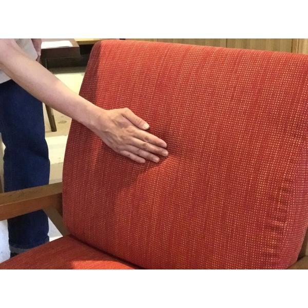 BM Sofa 1人掛けソファ 選べる背もたれフラットタイプ ローソファー ナラ無垢材|sabisabi-web|06