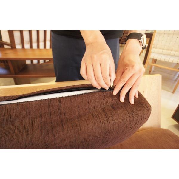 BM Sofa 1人掛けソファ 選べる背もたれフラットタイプ ローソファー ナラ無垢材|sabisabi-web|08