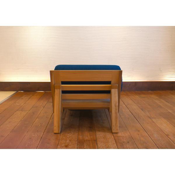 BM Sofa 1人掛けロング 選べる背もたれシリンダータイプ ローソファー カウチソファ ナラ無垢材|sabisabi-web|04