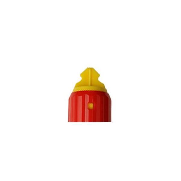 (まとめ) ゼブラ 油性マーカー マッキーワーク角芯太字+丸芯細字 赤 P-YYT21-R 1セット(10本) 〔×5セット〕 ペン 万年筆|sac|03
