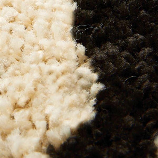 ゼブラ柄 ラグマット/絨毯 〔約95cm×130cm〕 モノトーン 長方形 日本製 ホットカーペット 床暖房対応 〔リビング〕 sac 02
