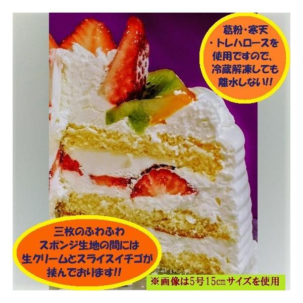 バースデーケーキ お誕生日ケーキ「生クリーム15センチ」【送料無料】(北海道は918円、沖縄は704円必要)|sachiya224873|02