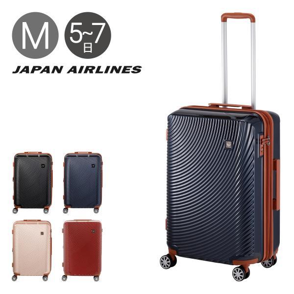 JAL スーツケース 4輪|65L 58cm 3.6kg 601-58|軽量 拡張 ハード ファスナー|ジャル JAPAN AIRLINES ジャパンエアライン [PO10]