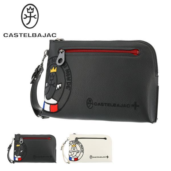 カステルバジャックセカンドバッグリンクメンズ30211CASTELBAJAC|持ち手クラッチバッグ軽量牛革本革レザー