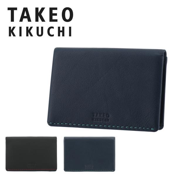 タケオキクチ パスケース モルビド メンズTK9055118 TAKEO KIKUCHI | カードケース 定期入れ 牛革 本革 レザー