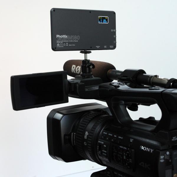 Phottix(フォティックス) 一眼ビデオ撮影スマホ用ポータブルLEDライト M180 ブラック|saedaonline|04