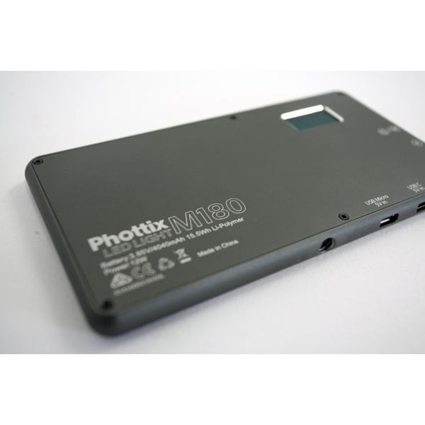 Phottix(フォティックス) 一眼ビデオ撮影スマホ用ポータブルLEDライト M180 ブラック|saedaonline|08