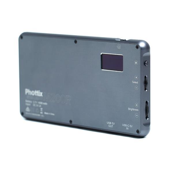 Phottix(フォティックス) 一眼ビデオ撮影スマホ用ポータブルLEDライト M200R RGB LIGHT|saedaonline|03