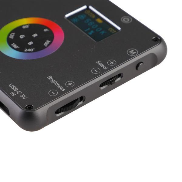 Phottix(フォティックス) 一眼ビデオ撮影スマホ用ポータブルLEDライト M200R RGB LIGHT|saedaonline|06