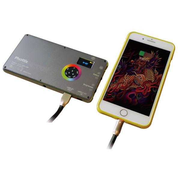 Phottix(フォティックス) 一眼ビデオ撮影スマホ用ポータブルLEDライト M200R RGB LIGHT|saedaonline|08