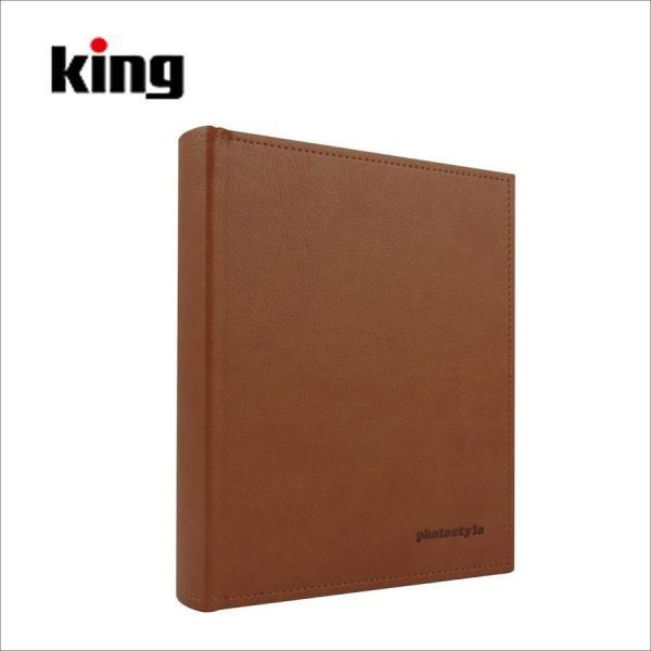 キング ( King ) レザーポケットアルバム L100 ブラウン(Lサイズ 100枚収納)