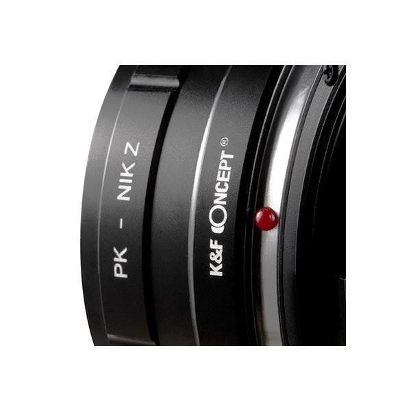 K&F Concept マウントアダプター(ペンタックスKマウントレンズをニコンZマウントボディに取付け)KF-PKZ