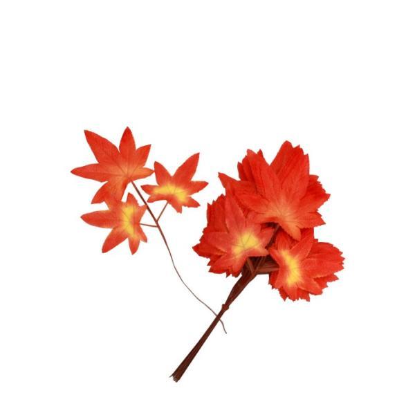 お祭り(まつり)・縁日・祭祀・祭礼行事のイベントアイテム用品★シルクもみじ枝付(24本1束) saemiya