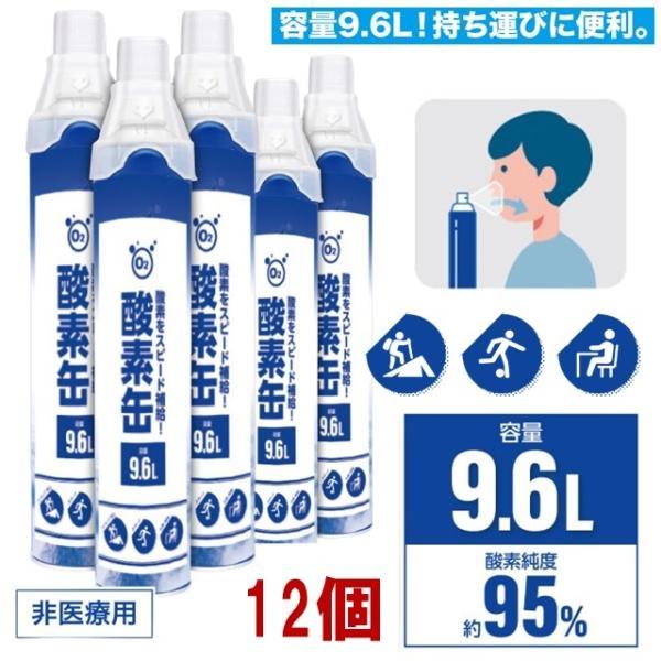 12個 酸素缶 9.6L 携帯酸素缶 携帯用酸素 携帯酸素スプレー 酸素ボンベ 酸素不足 救急 登山 スポーツ 登山 ジョギング テニス サイクリング