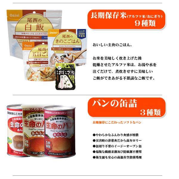 防災セット 超豪華3日間分 非常食セット[27種類31アイテム]|safety-japan|06