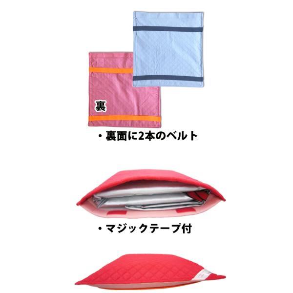 防災頭巾用シーチングカバー(座布団式) 単品 綿100% 約32x34cm|safety-japan|03