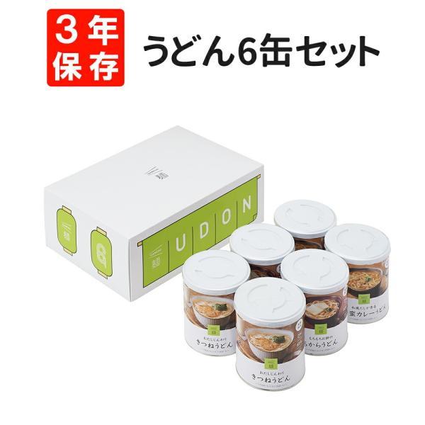 非常食セット IZAMESHI(イザメシ) 缶詰 うどん 3種類 6缶セット 麺シリーズ 3年保存