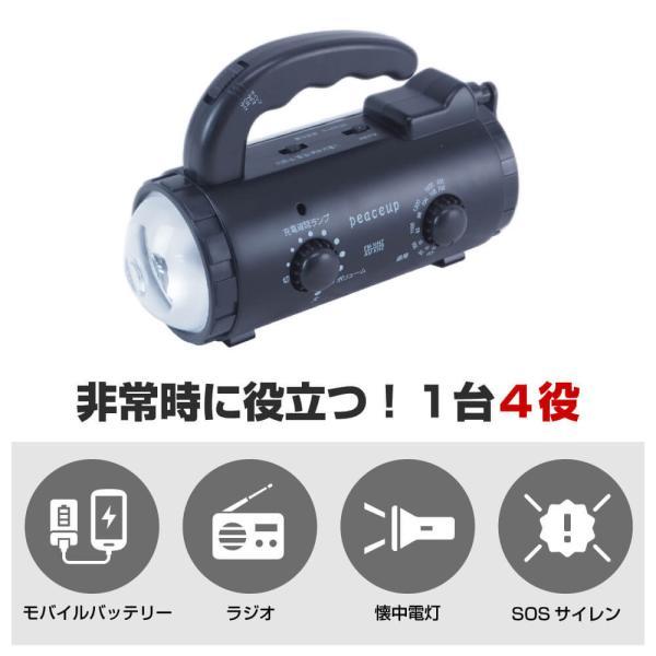 防災多機能ダイナモライト LED懐中電灯|safety-japan|02