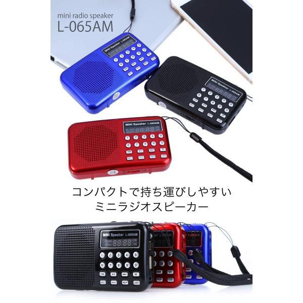 防災グッズ ラジオ LEDライト付きの多機能小型ポータブルラジオ AM/FM/MP3/録音/再生/USB|safety-japan|02